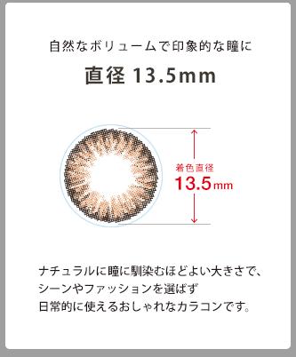 着色直径が13.5mm