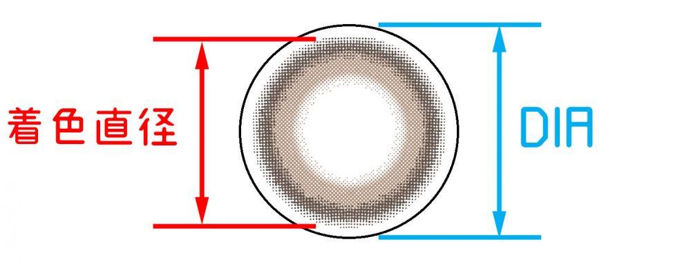 DIAと着色直径の違い