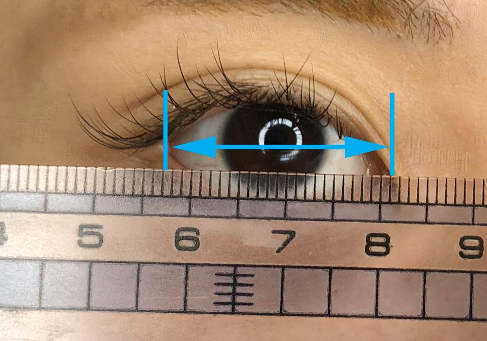 瞳の測り方