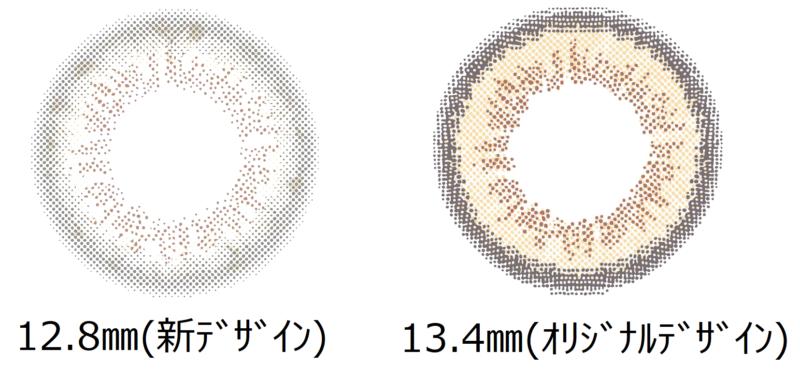 レンズデザインの比較画像