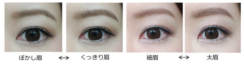 眉の比較画像