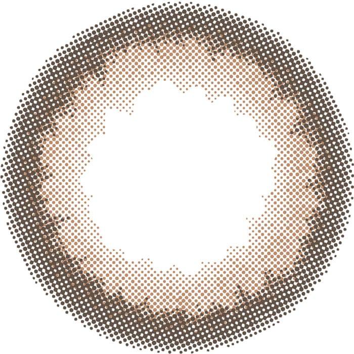 ドーリーブラウンのレンズデザイン画像