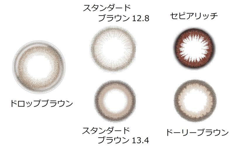 レンズのデザイン比較画像