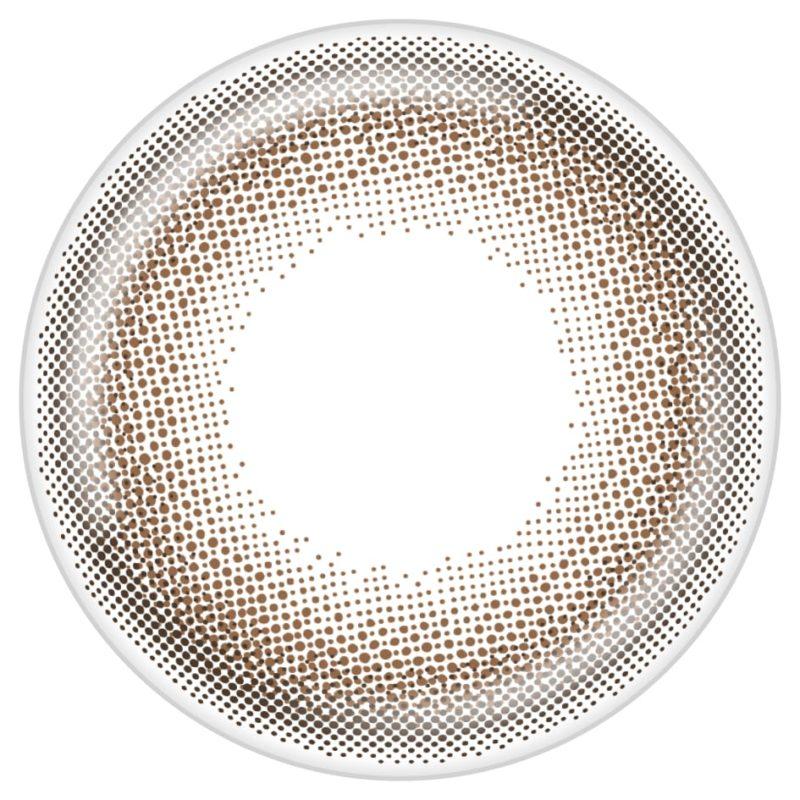 ドロップブラウンのレンズデザイン画像
