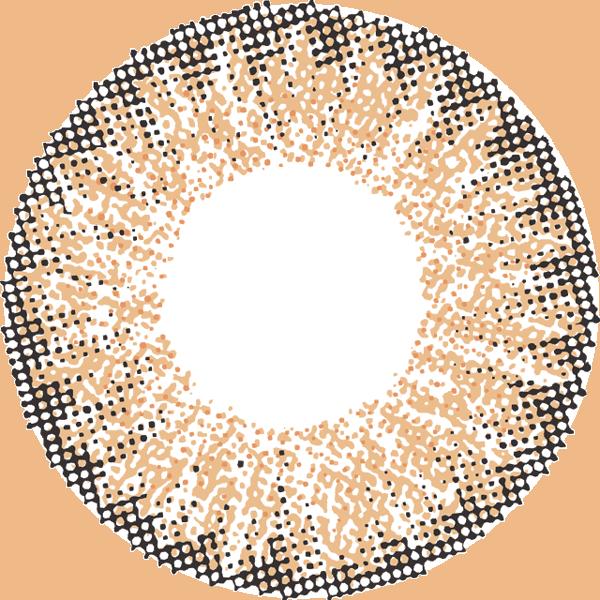 モードブラウンのレンズデザイン画像