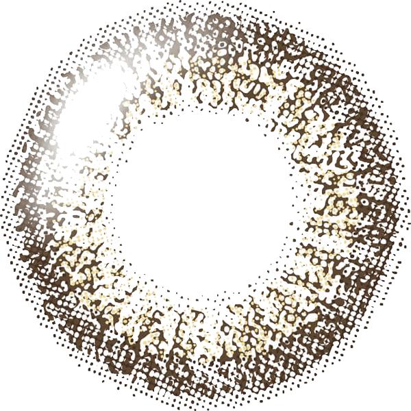 ココアブラウンのレンズデザイン画像