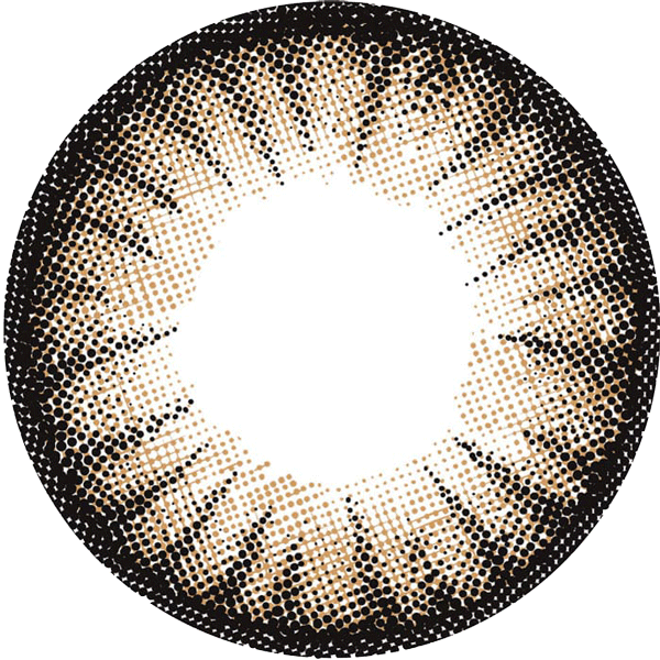 フラワーブラウンのレンズデザイン画像
