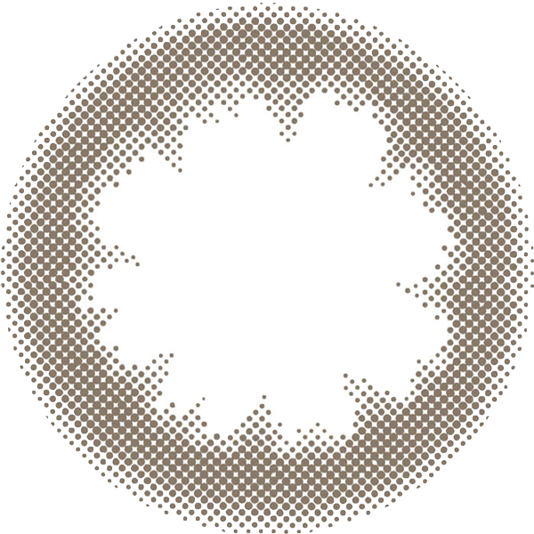 カーキブラウンのレンズデザイン画像