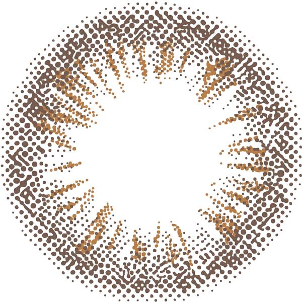 シャイニーブラウンのレンズデザイン画像