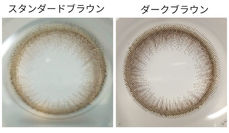 レンズ実物の比較画像