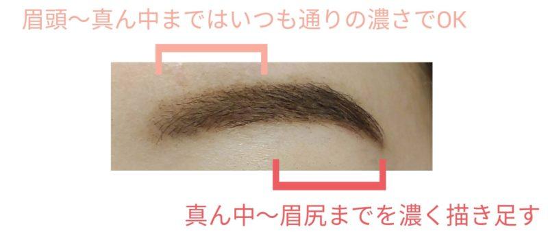 眉の描き方の画像