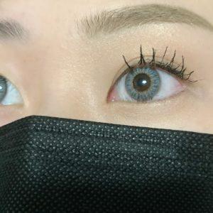 黒マスク×プラチナグレー